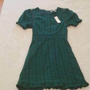 Emerald green XS dress NWT
